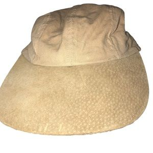 Vintage Orvis Suede and Canvas Ball Cap